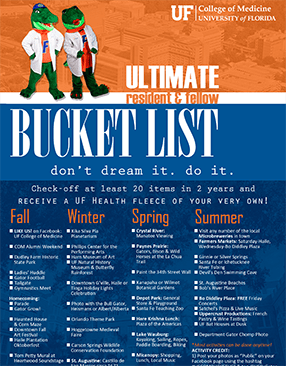 Ultimate Resident and Fellow Gator Bucket List