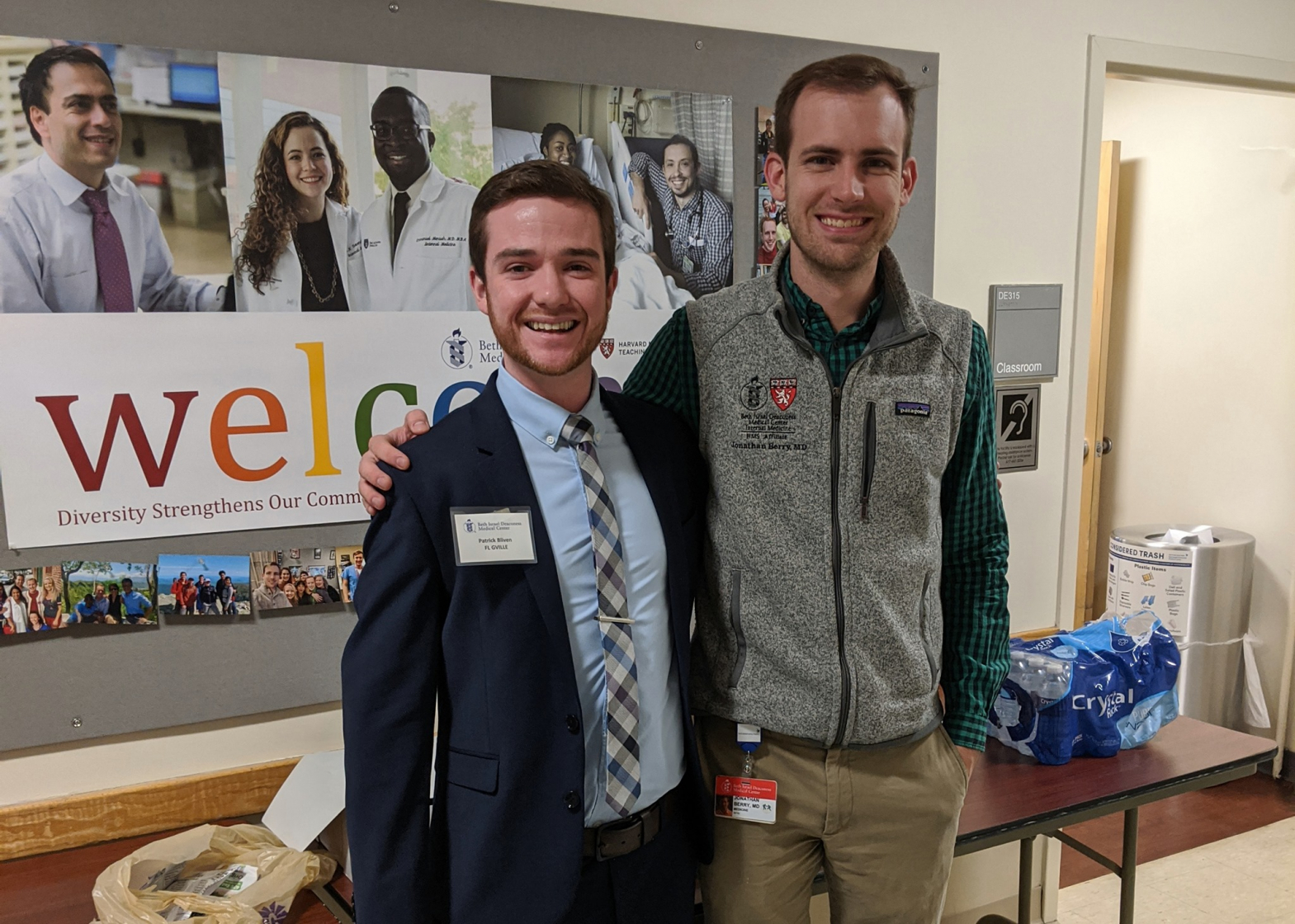 Patrick Bliven connected with internal medicine resident Jonathan Berry, M.D. '17, while interviewing for a residency at Beth Israel Deaconess Medical Center in Boston.